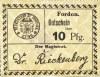 Fordon/Bydgoszcz, Gutschein 10 pfennig 1918, nowodruk, papier kremowy, odmiana 2.