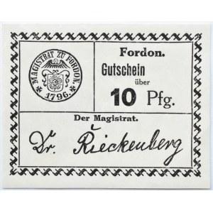 Fordon/Bydgoszcz, Gutschein 10 pfennig 1918, nowodruk, papier biały, odmiana 2.