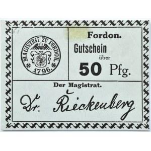 Fordon/Bydgoszcz, Gutschein 50 pfennig 1918, nowodruk, odmiana 1.