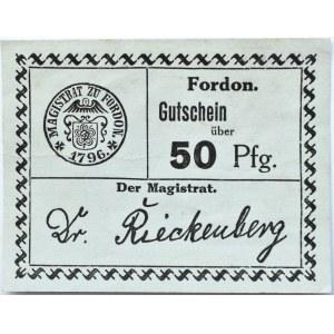Fordon/Bydgoszcz, Gutschein 50 pfennig 1918, nowodruk, odmiana 2.