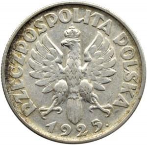 Polska, II RP, Kłosy, 2 złote 1925 z kropką, Londyn