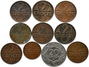 Polska, II RP, lot 10 groszy 1923-1938, Warszawa