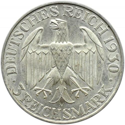 Niemcy, Republika Weimarska, 3 marki 1930 A, Berlin, Graf Zeppelin, UNC