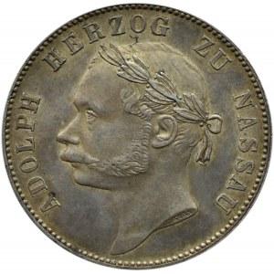 Niemcy, Nassau, Adolf, talar 1864, Wiesbaden, niski nakład!