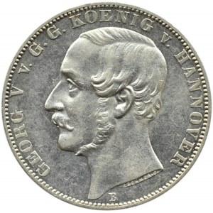Niemcy, Hannover, Georg V, 1 talar 1866 B, Hannover