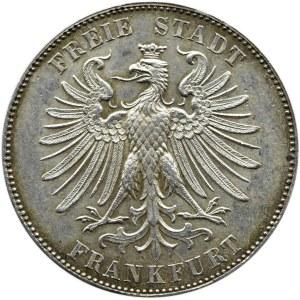 Niemcy, Frankfurt, talar 1859, Frankfurt - 100 lecie Urodzin Schillera