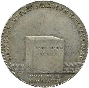 Niemcy, Bawaria, Maximilian Józef, talar 1818, Monachium, Konstytucja