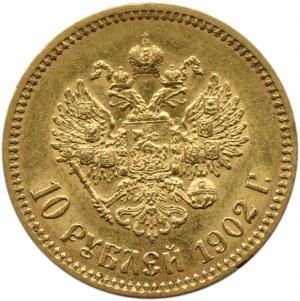 Rosja, Mikołaj II, 10 rubli 1902 AP, Petersburg