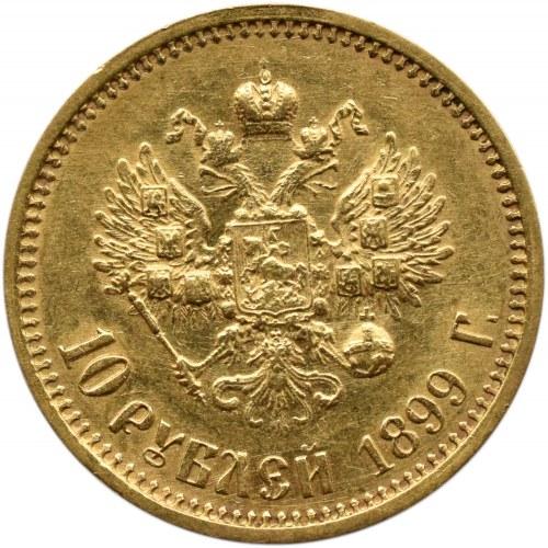 Rosja, Mikołaj II, 10 rubli 1899 FZ, Petersburg