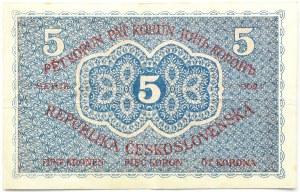 Czechosłowacja, 5 koron 1919, seria 0021, Praga