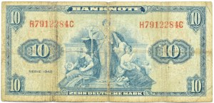 Niemcy, RFN, 10 marek 1948, seria H