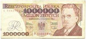 Polska, III RP, 1 000000 złotych 1991, seria E, Warszawa