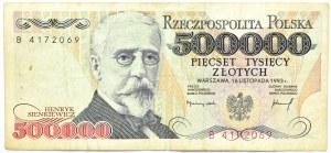 Polska, III RP, 500000 złotych 1993, seria B, Warszawa