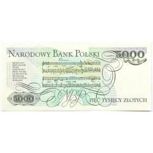 Polska, PRL, 5000 złotych 1988, seria CU, Warszawa, UNC
