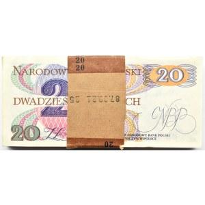 Polska, PRL, paczka bankowa 20 złotych 1982, seria AB