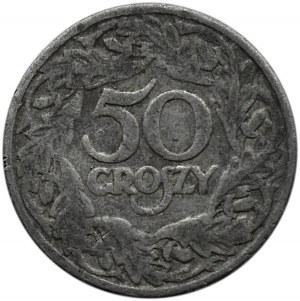 Polska, II RP, 50 groszy 1923, falsyfikat z epoki, rzadkie!