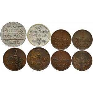 Wolne Miasto Gdańsk, lot monet - pfennig 1923-1937, Berlin/Utrecht
