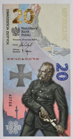 Polska, 100-lecie Bitwy Warszawskiej, 20 złotych 2020, Warszawa, UNC