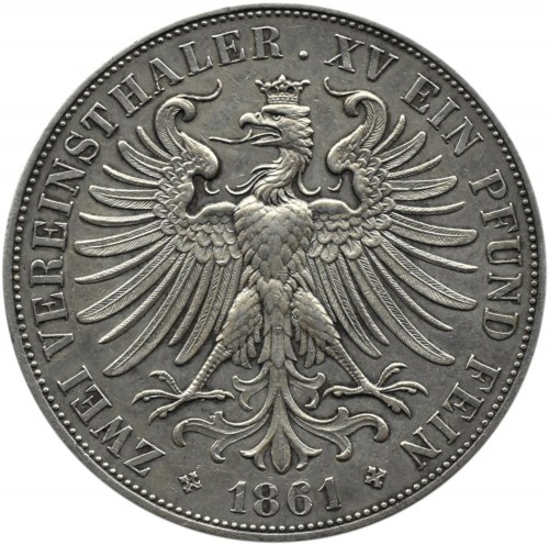 Niemcy, Frankfurt, 2 talary 1861, Frankfurt