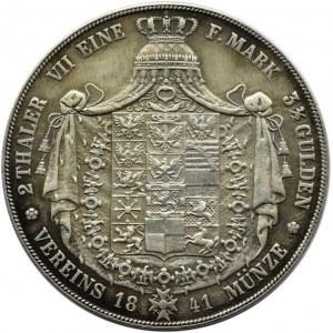 Niemcy, Prusy, Fryderyk Wilhelm, 2 talary 1841 A, ładne i rzadkie