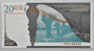 Polska, Fryderyk Chopin, 20 złotych 2009, Warszawa, UNC