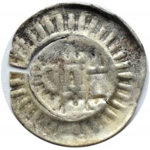 Niemcy Północne, Brakteat, XIII/XIV wiek, proporzec i dwie wieże