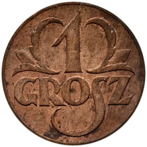 Polska, II RP, 1 grosz 1923, Warszawa, bardzo ładny egzemplarz