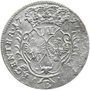 Niemcy, Prusy, Fryderyk II Wielki, szóstak, 1657 B, Wrocław