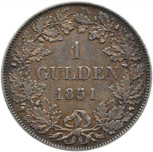 Niemcy, Bawaria, Maksymilian II, gulden 1851, Monachium