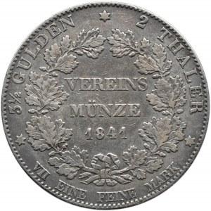 Niemcy, Hesja-Darmstadt, Ludwig II, 2 talary 1841, ładne