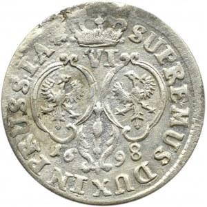 Niemcy, Prusy, Fryderyk II Wielki, szóstak 1698 SD, Królewiec