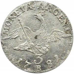 Niemcy, Prusy, Fryderyk, trojak 1781 B, Wrocław