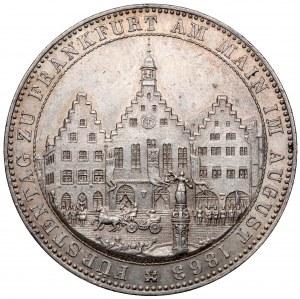 Frankfurt, Taler 1863 - Fürstentag