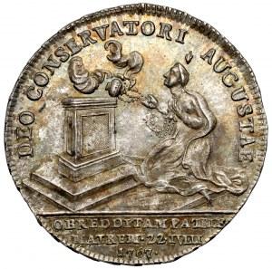 Austria, Maria Teresa, Żeton 1767 (ø25mm) - uzdrowienie cesarzowej z ospy