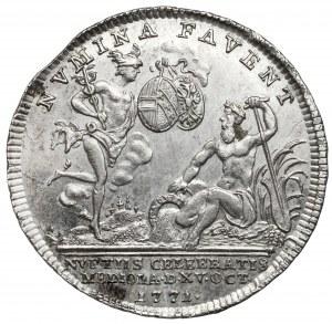 Austria, Maria Teresa, Żeton 1771 - ślub syna Ferdynanda