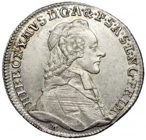 Austria, Hieronymus von Colloredo, Żeton 1782 (ø21mm) - 1200-lecie Salzburga