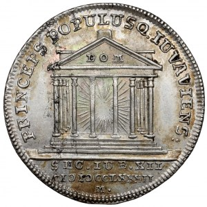 Austria, Hieronymus von Colloredo, Żeton 1782 (ø25mm) - 1200-lecie Salzburga