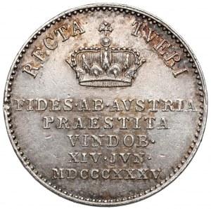 Austria, Ferdynand I, Żeton 1835 - Hołd w Wiedniu
