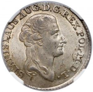 Poniatowski, Złotówka 1788 EB - piękna