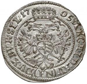 Śląsk, Leopold I, 3 krajcary 1705 FN, Wrocław - piękny