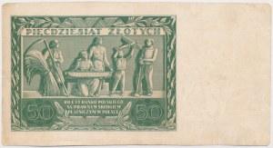 50 złotych 1936 Dąbrowski - AS - awers bez druku głównego