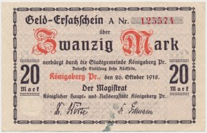 Konigsberg i.Pr. (Królewiec), 20 mk 1918