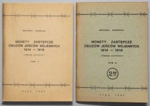Monety zastępcze obozów 1914-1918, Tom I i II, Sikorski (2szt)