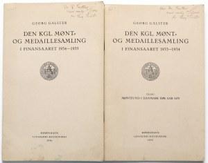 Den kgl. Mønt- og medaillesamling i finansaaret 1933-1934, H. Galster, 1935, 1936 (2)
