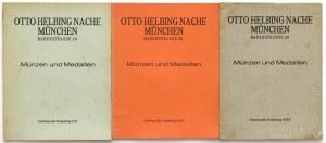 Otto Helbing, Münzen und Medaillen - katalogi ofertowe XX, XXI, XXV (3szt)