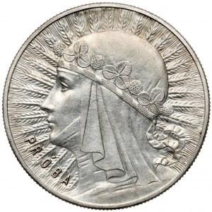 Próba 10 złotych 1932 Głowa Kobiety, Warszawa