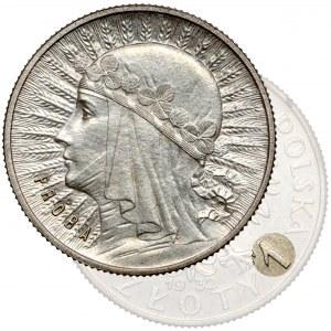 Próba SREBRO 1 złoty 1932 Głowa Kobiety - rzadka