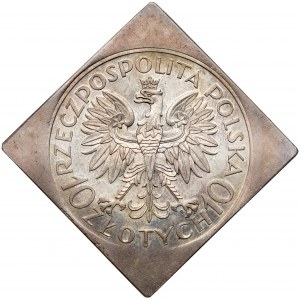 KLIPA 10 złotych 1933 Traugutt - b.rzadka i PIĘKNA