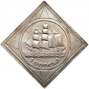 KLIPA 5 złotych 1936 Żaglowiec - PIĘKNA