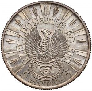 PRÓBA 5 złotych 1934 Strzelecki Piłsudski - PIĘKNE